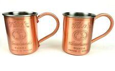 Lot of 2 Tito's Handmade Vodka Copper & Stainless Steel Moscow Mule Mug 12oz NIB