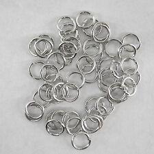 LOT DE 300 ANNEAUX SIMPLES COULEUR PLATINE 5 MM, perles,fimo -fdpg037