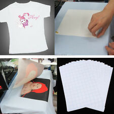 10pcs T-Shirt Print Iron-On Heat Transfer Paper Sheets For Light Cloth US