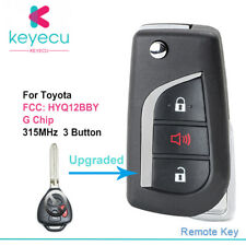 Upgrade Remote Flip Key Fob for Toyota 4Runner Yaris 2012-2015 HYQ12BBY -G Chip