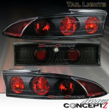 95 96 97 98 99 MITSUBISHI ECLIPSE TAIL LIGHTS BLACK HOUSING STYLE 3 PIECES