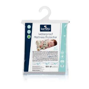 Lorelli Babybett Matratzenschoner, weiß, verschiedene Größen, wasserdicht