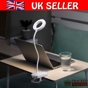 Dimmable LED Desk Lamp Night Light USB Rechargeable Table Bedside Light White