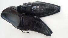 Belvedere Mens Shoes  Genuine Crocodile Skin - Ebano Genuine Hornback & Ostrich