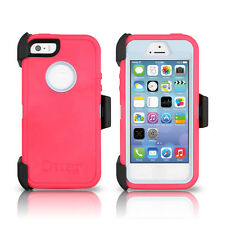 OtterBox Defender iPhone 5S 5 Case & Holster Pink Gray Wild Orchid OEM Original