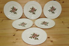 """Wedgwood Briar Rose (6) Bread & Butter Plates, 6 3/8"""""""