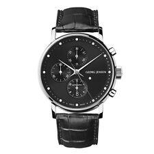 Georg Jensen Men's Chronograph # 492 - Black Dial - KOPPEL