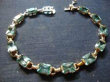 Vermeil Blue Topaz Tennis Bracelet Grandmas Sterling Silver Big Chunky