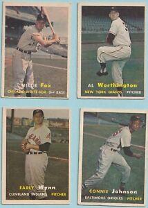 1957 TOPPS  NELLIE FOX     #38  EX+  WHITE SOX  HOFer