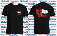 Heavy Cotton U2 War Tour Vintage 1983 Concert Cotton T-Shirt Reprint USA Size