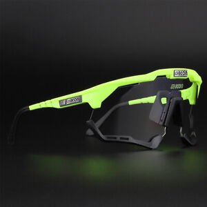 Men & Womens Photochromic Cycling Glasses Outdoor Sports Cycling TR90 Sunglasses