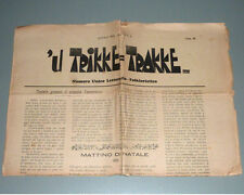 Antico giornale u Trikke Trakke natale Taranto Puglia folklore e tradizioni 1932