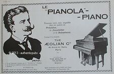 PUBLICITE PIANOLA PIANO THE AEOLIAN M. ROSENTHAL INSTRUMENT MUSIQUE DE 1922 AD