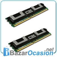 FBDIMM Fully Buffer ECC KINGSTON kit of 2x 1 Gb DDR2 667MHz p/n KVR667D2D8F5/1GI