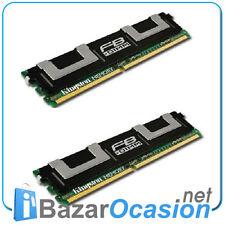 Fbdimm Fully buffer ECC Kingston kit of 2x 1 GB DDR2 667mhz P/n Kvr667d2d8f5/1gi
