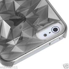 Apple iPhone 5 Diamond Shape Back Case Cover Accessory Transparent Smoke