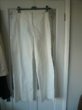 Stylish white cotton trousers by MarcCain size N4 BNWT