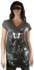 Amplified SAINT&SINNER Floral Indian Skull Rock Star WoW Tunika Shirt Kleid L 42