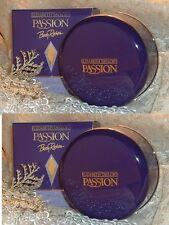 LOT  ~  PASSION ~  Elizabeth Taylor Perfume d DUSTING POWDER S ~ FULL SIZES