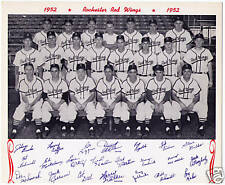 1952 Rochester Red Wings team photo picture 8 X by 10