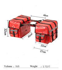 One Pair RED Waterproof  Universal fit Motorcycle Pannier Bags Luggage SaddleBag