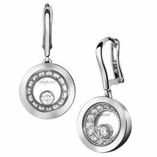 Nuevo Chopard Happy diamantes muy Chopard Blanco para Mujer de pendientes 837789-1001