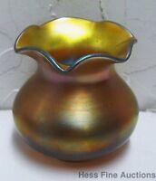 Steuben Aurene Antique Iridescent Art Glass Vase No Reserve.