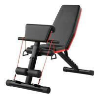 Adjustable Sit Up AB Incline Abs Bench Flat Fly Weight Press Gym Black