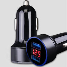 3.1A Dual USB LED Car Charger with Blue Indicator Light Multi-protection