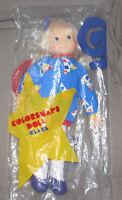 SEALED AVON Colorsnaps Clare Vintage Plush Stuffed Doll 1987 Blue Blonde NIP