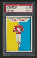 1965 Clare Exelby #66 Topps CFL Football Card PSA 8  Montreal Alouettes  Pop. 9