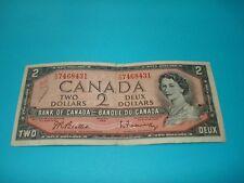 1954 - Canada $2 bill - Canadian two dollar note - YU7468431