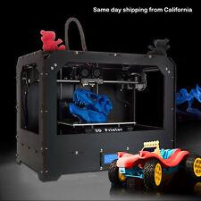 Black 3D Printer for Makerbot Replicator 2 Dual Extruders + 1ABS/PLA filament