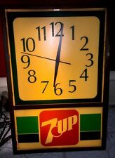 THOMAS SCHUTZ  7 UP ADVERTISING  WALL CLOCK LIGHT MODEL 7195 ADVERTISEMENT Seven