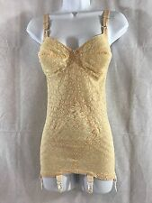 EUC True Vintage 1960's Lacette Girdle by Rago style 9357 Bullet Bra Natural 34C