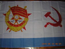 Flag of of Soviet Union Navy Naval Ensign 1935 Red Baan USSR CCCP ensign 3X5ft