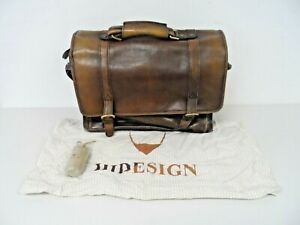 Hidesign Brown Leather Unisex Briefcase   A64