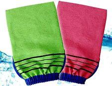 Korean Italy Exfoliating Bath Washcloths Shower Skin Body-Scrub Towel Glove 5PC