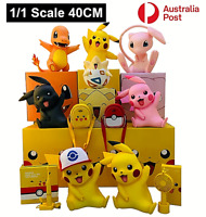 Pokemon Go Figures Pikachu Action Figurine Kids Home Decoration 40CM 1/1 Scale