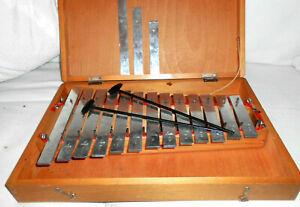 SONOR Xylophon in Holzkiste / OVP (> 39,8 x 26 x 6,7 cm) geprüft. Musik Schwarz