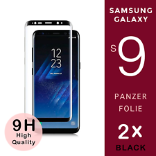 "2x Samsung Galaxy S9 Panzer Glasfolie ""BLACK""  Full Screen Curved 9H / 3D *"