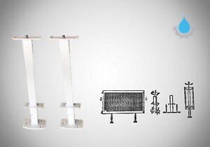 Wandkonsolen Heizkörper Heizung Halter 300-900 mm 2 x Standfuß Standkonsole NEU