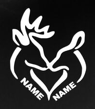 Buck & Doe customized with names Vinyl Decal