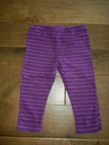 NAARTJIE girls Bird purple striped capris cropped leggings, Fall School, L 6