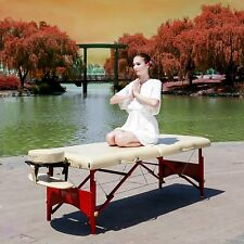 """Master Massage 28"""" Inch Caribbean Portable Table Bed Couch Package Cream"""
