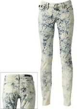 ROCK & REPUBLIC Laced Berlin Floral Light Wash Faded Stretch Skinny Jeans 6 M