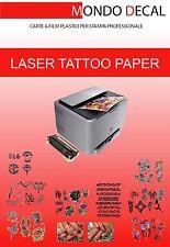 Carta per tatuaggi temporanei - Tattoo paper transfer - stampa Laser