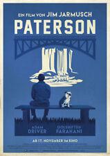 PATERSON 2016 German – Jim Jarmusch, Adam Driver – Movie Cinema Poster
