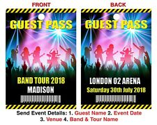 CONCERT EVENT LANYARD 3 Guest Pass Personalised