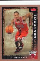 08/09 2008-09 Fleer Rookie #201 Derrick Rose Bulls